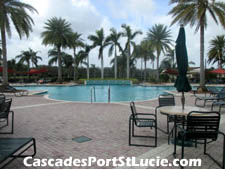 The Caseades pool area is a popular place to while away a sunny day.